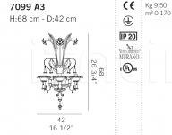 Настенный светильник 7099 A3 De Majo Illuminazione
