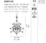 Люстра 8089 K9 De Majo Illuminazione