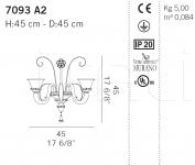 Настенный светильник 7093 A2 De Majo Illuminazione