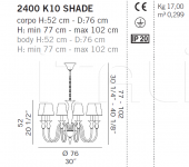 Люстра 2400 K10 SHADE De Majo Illuminazione