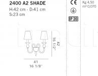 Настенный светильник 2400 A2 SHADE De Majo Illuminazione