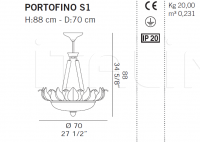 Подвесной светильник PORTOFINO S1 De Majo Illuminazione