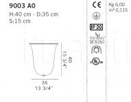 Настенный светильник 9003 A0 De Majo Illuminazione