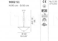 Подвесной светильник 9002 S1 De Majo Illuminazione