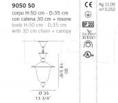 Подвесной светильник 9050 S0 De Majo Illuminazione