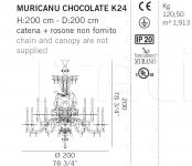 Люстра  MURICANU CHOCOLATE K24 De Majo Illuminazione