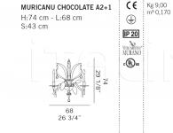 Настенный светильник MURICANU CHOCOLATE A2+1 De Majo Illuminazione