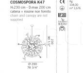 Подвесной светильник COSMOSPORA K47 De Majo Illuminazione