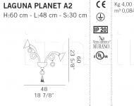 Настенный светильник LAGUNA PLANET A2 De Majo Illuminazione