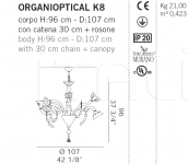 Подвесной светильник ORGANIOPTICAL K8 De Majo Illuminazione
