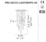 Потолочный светильник PRO-SECCO LIGHTDROPS De Majo Illuminazione