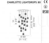 Потолочный светильник CHARLOTTE LIGHTDROPS De Majo Illuminazione