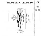 Потолочный светильник MICOS LIGHTDROPS De Majo Illuminazione