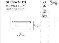 Настенный светильник DAKOTA A-G9/A-LED De Majo Illuminazione
