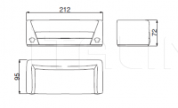 Двухместный диван VIA GESU' Versace Home