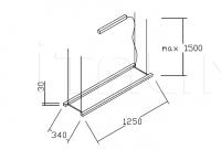 Подвесной светильник ROCK GARDEN 1250/1550 Pallucco