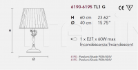 Настольный светильник CERAMIC GARDEN TL1G Masiero