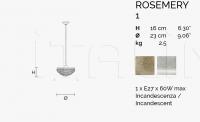 Подвесной светильник ROSEMERY 1 Masiero
