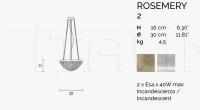 Подвесной светильник ROSEMERY 2 Masiero