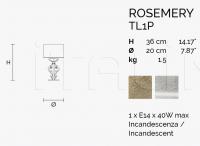 Настольный светильник ROSEMERY TL1P Masiero