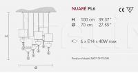 Подвесной светильник NUARE PL6 Masiero