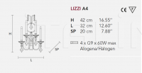 Настенный светильник LIZZI A4 Masiero