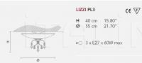 Потолочный светильник LIZZI PL3 Masiero