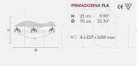 Потолочный светильник PRIMADONNA PL4 Masiero