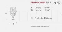 Настольный светильник PRIMADONNA TL1P Masiero