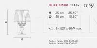 Настольный светильник BELLE EPOKE TL1G Masiero