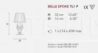 Настольный светильник BELLE EPOKE TL1P Masiero
