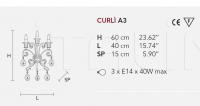 Настенный светильник CURLI A3 Masiero