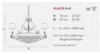 Люстра GLASSE 8+4 Masiero