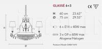 Люстра GLASSE 6+3 Masiero