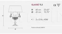 Настольный светильник GLASSE TL3 Masiero