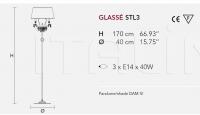 Торшер GLASSE STL3 Masiero