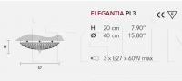 Потолочный светильник ELEGANTIA PL3 Masiero
