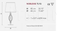 Настольный светильник  NOBLESSE TL1G/TL1P Masiero