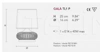 Настольный светильник GALA TL1 P Masiero