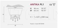 Потолочный светильник ANTIKA PL1 Masiero