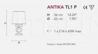 Настольный светильник ANTIKA TL1P Masiero