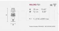 Настольный светильник MILORD TL1 Masiero