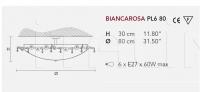 Потолочный светильник BIANCAROSA PL4 60/PL6 80 Masiero