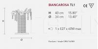 Настольный светильник BIANCAROSA TL1 Masiero