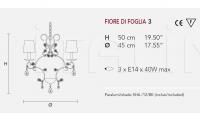 Люстра FIORE DI FOGLIA 3 Masiero
