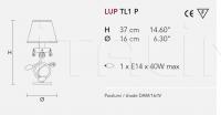 Настольный светильник LUP TL1 P Masiero