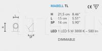 Настольный светильник MABELL TL Masiero