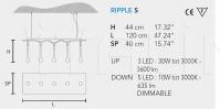 Подвесной светильник RIPPLE S Masiero