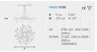 Подвесной светильник VIRGO S 100 Masiero