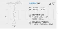 Подвесной светильник DROPOP S Masiero